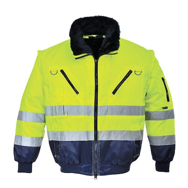 Yellow or Orange ProForce Class 3 Contractor High Visibility Coat Hi-Vis Hi-Viz Work Site Jacket