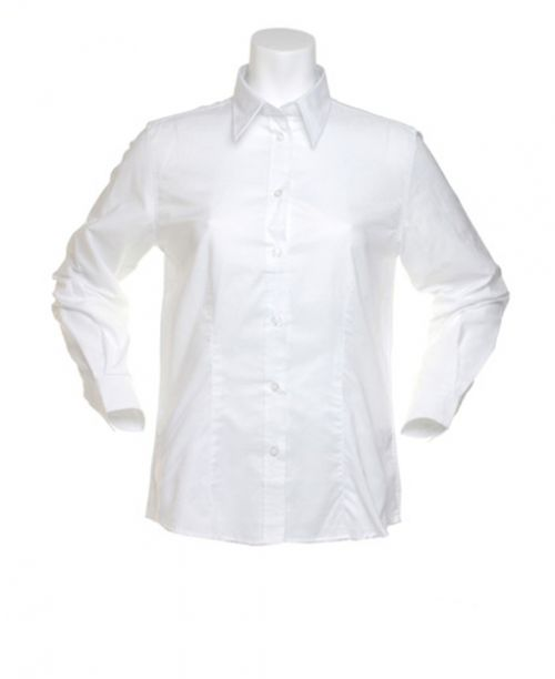Women's Workplace Oxford Blouse Long Sleeved White- Size 12